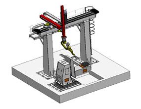 龙门式L型11轴机器人工作站