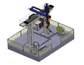 龙门式M型10轴机器人工作站