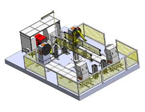 双工位H型7轴机器人工作站
