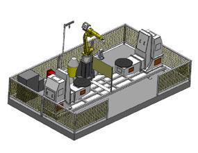 双工位L型10轴机器人工作站