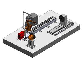 地轨式M型8轴机器人工作站(1)
