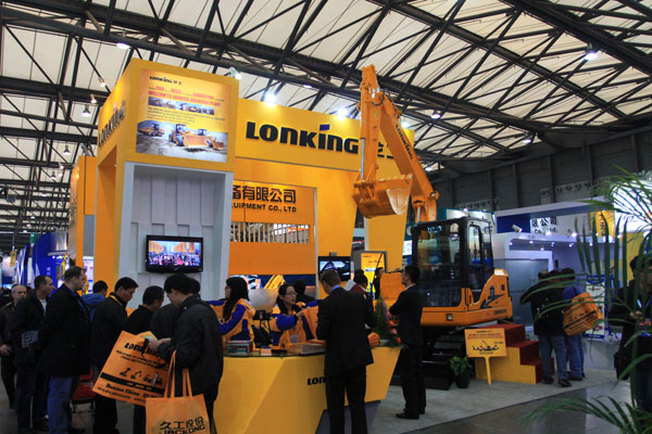 Lonking booth in Bauma show