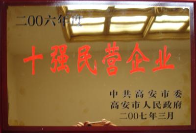 2006年十强民营企业