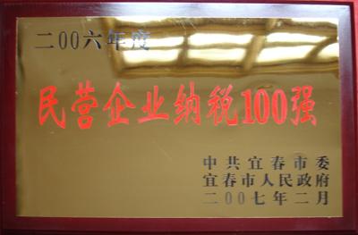 2006年民营企业纳税100强