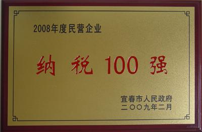 2008年民营企业纳税100强